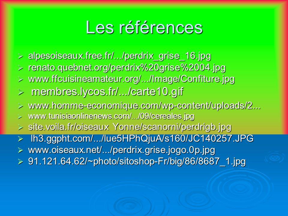 Les références alpesoiseaux.free.fr/.../perdrix_grise_16.jpg renato.quebnet.org/perdrix%20grise%2004.jpg www.ffcuisineamateur.org/.../Image/Confiture.