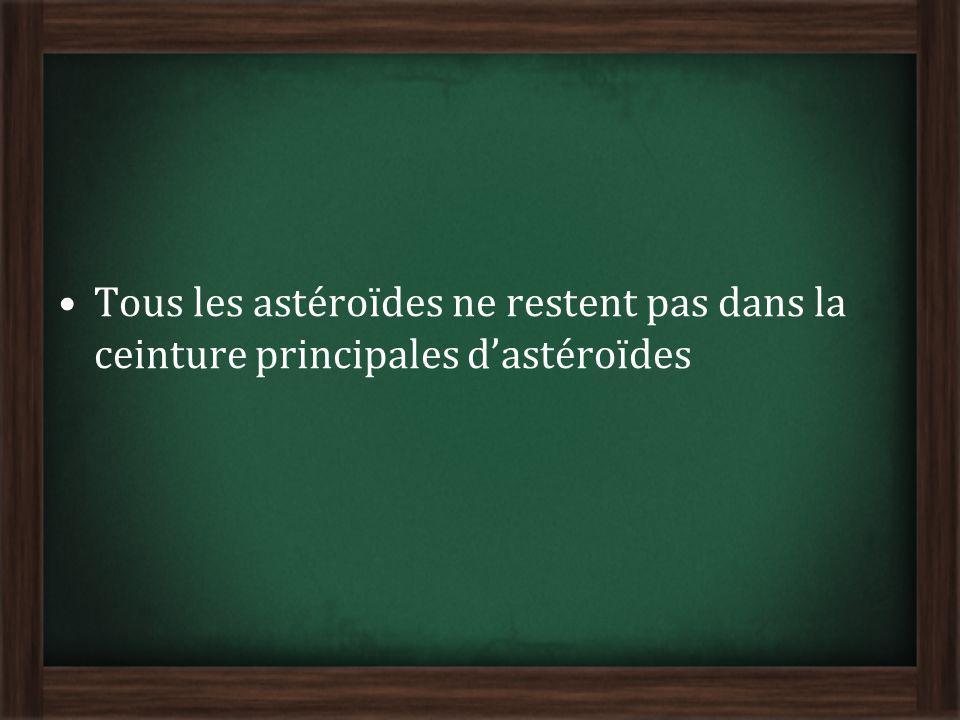 Tous les astéroïdes ne restent pas dans la ceinture principales dastéroïdes