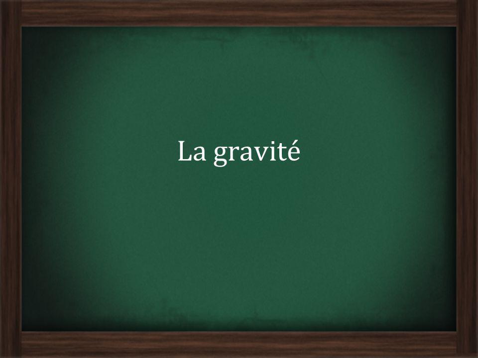 Il existe une raison qui fait quun objet tombe sur le sol au lieu de senvoler dans lespace Cette raison est une force appelée : La gravité