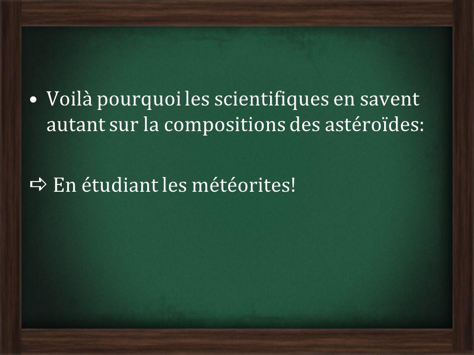 Voilà pourquoi les scientifiques en savent autant sur la compositions des astéroïdes: En étudiant les météorites!