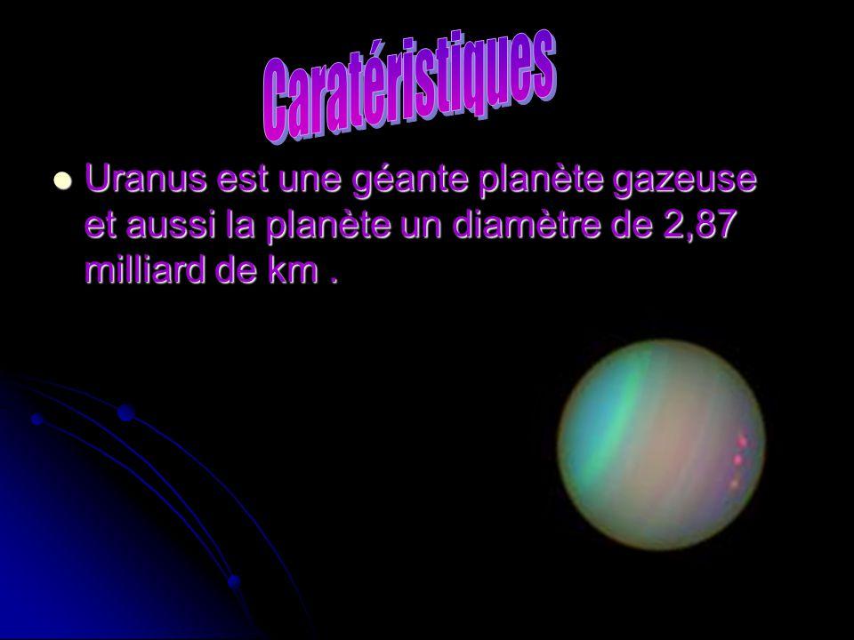 Uranus est une géante planète gazeuse et aussi la planète un diamètre de 2,87 milliard de km. Uranus est une géante planète gazeuse et aussi la planèt