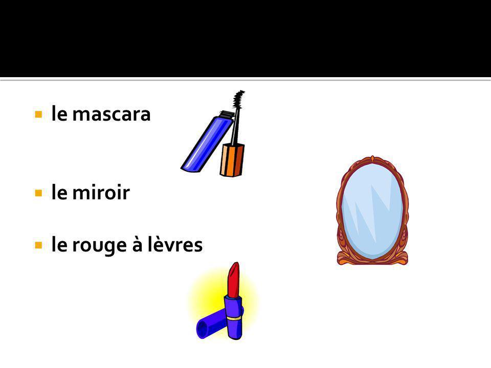 le mascara le miroir le rouge à lèvres