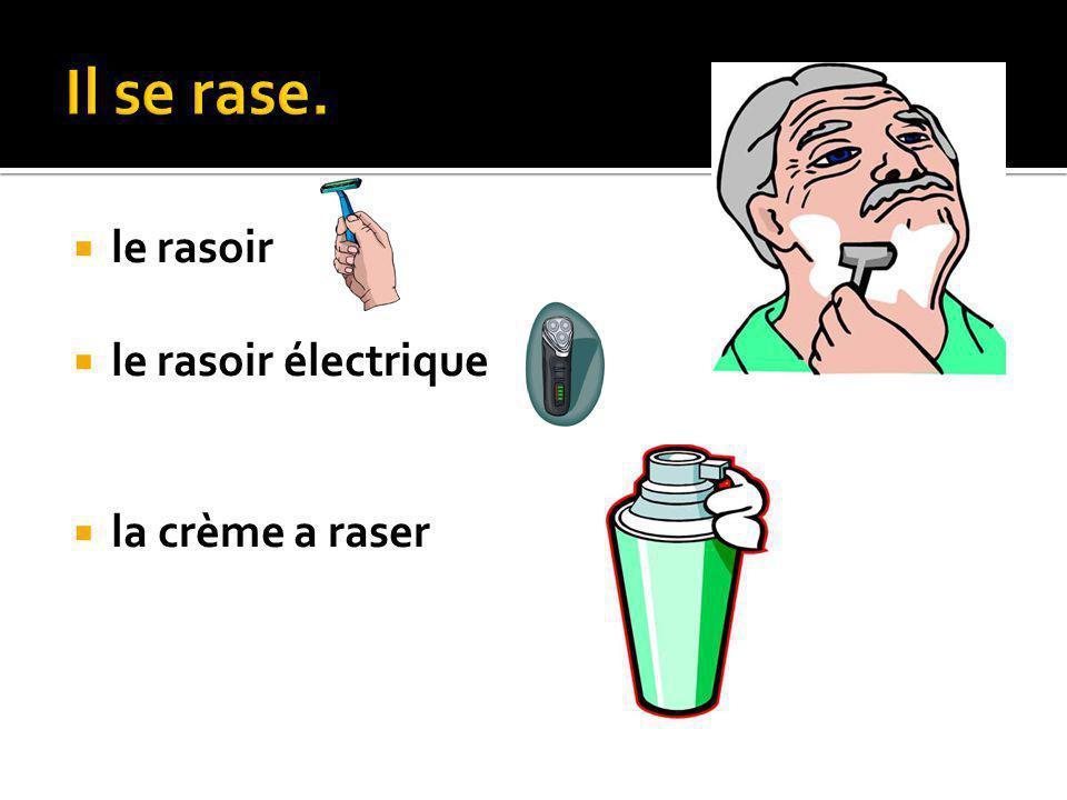 le rasoir le rasoir électrique la crème a raser