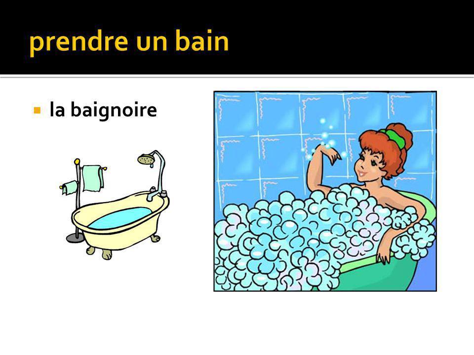 le gel douche le savon la serviette