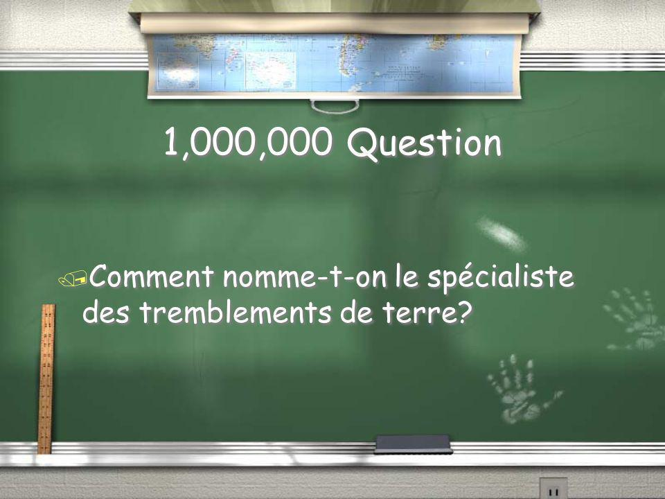 Question à 1,000,000 Niveau 11