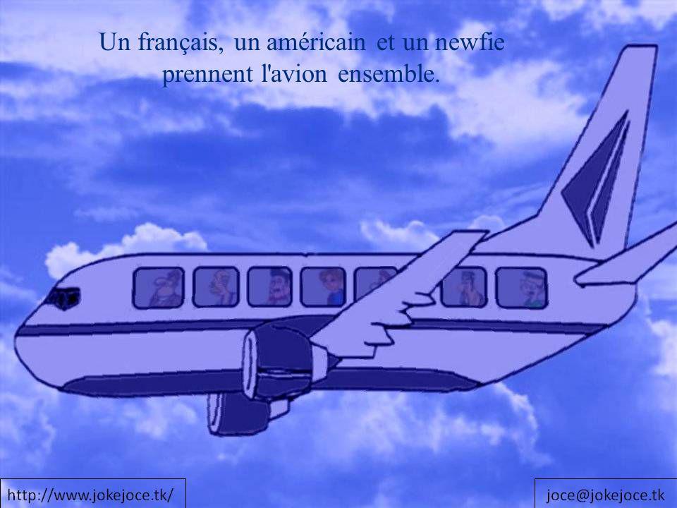 Un français, un américain et un newfie prennent l'avion ensemble.