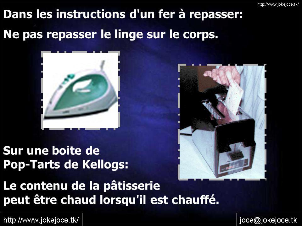 Dans les instructions d un fer à repasser: Ne pas repasser le linge sur le corps.