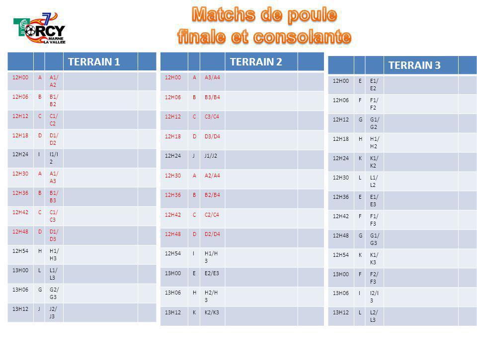 TERRAIN 1 12H00AA1/ A2 12H06BB1/ B2 12H12CC1/ C2 12H18DD1/ D2 12H24II1/I 2 12H30AA1/ A3 12H36BB1/ B3 12H42CC1/ C3 12H48DD1/ D3 12H54HH1/ H3 13H00LL1/