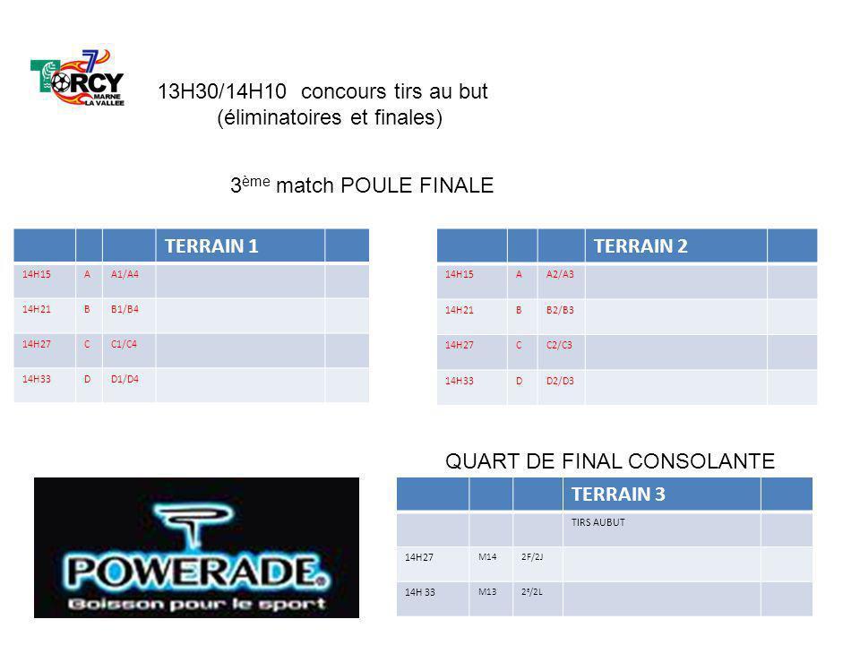 TERRAIN 1 14H15AA1/A4 14H21BB1/B4 14H27CC1/C4 14H33DD1/D4 TERRAIN 3 TIRS AUBUT 14H27 M142F/2J 14H 33 M132 E /2L TERRAIN 2 14H15AA2/A3 14H21BB2/B3 14H2