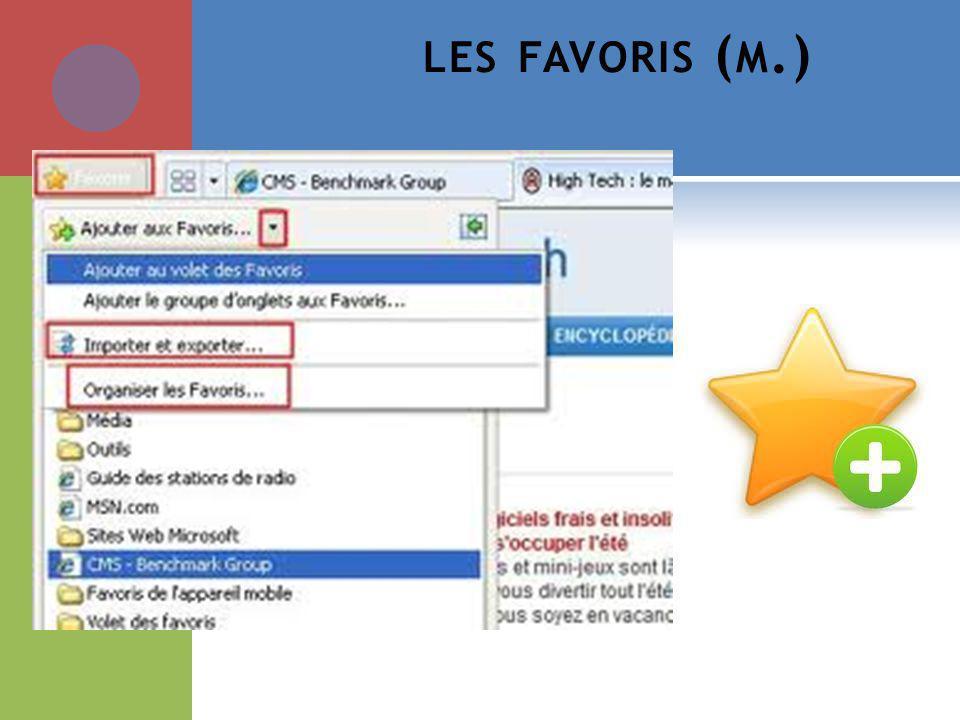LES FAVORIS ( M.)