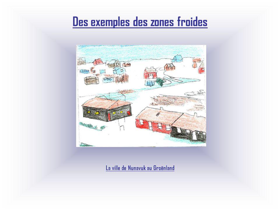 Des exemples des zones froides La ville de Nunavuk au Groënland