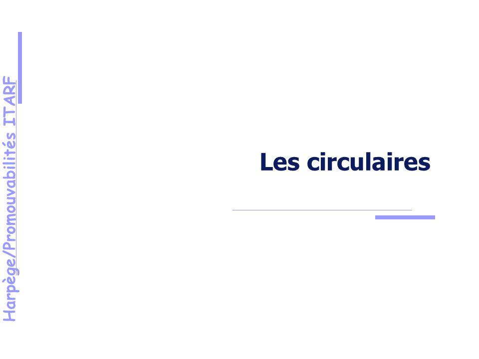 Harpège/Promouvabilités ITARF Les circulaires
