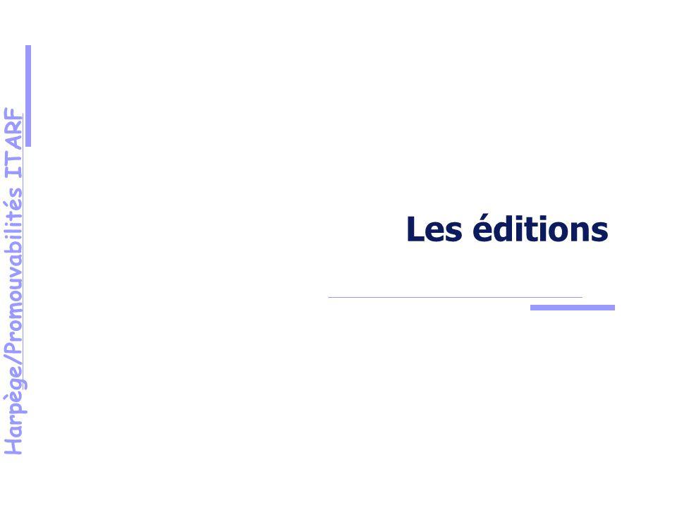 Harpège/Promouvabilités ITARF Les éditions