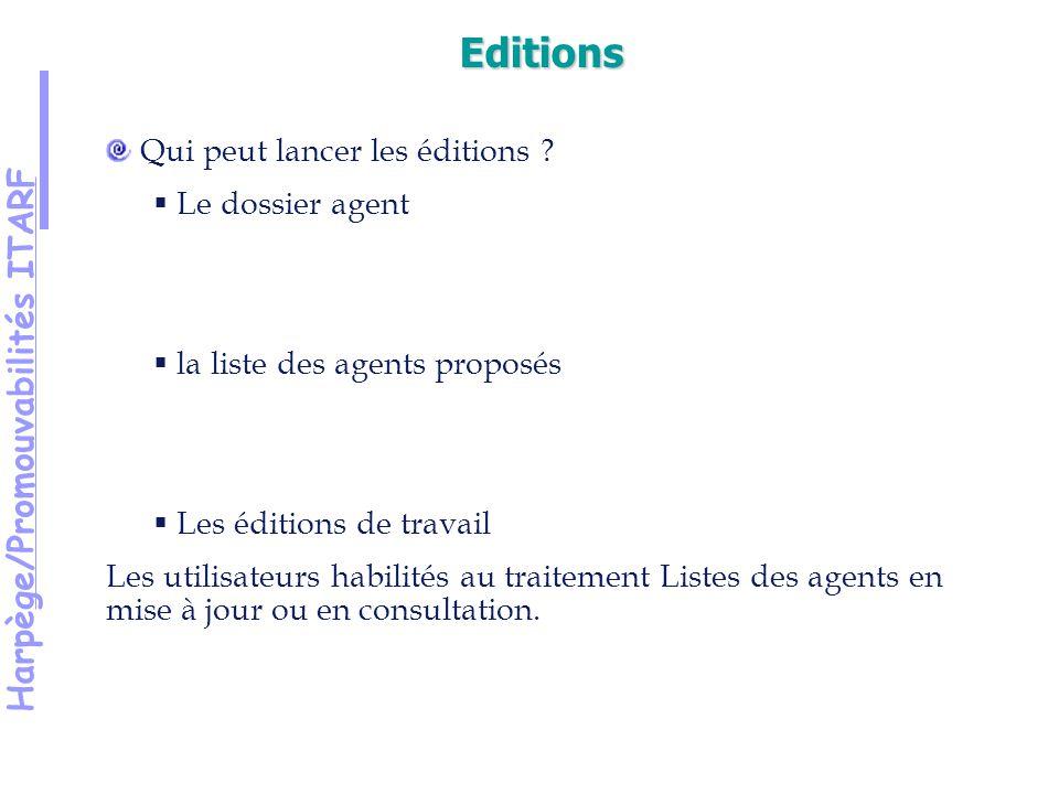 Harpège/Promouvabilités ITARF Qui peut lancer les éditions .