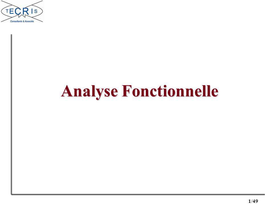 1/49 Analyse Fonctionnelle