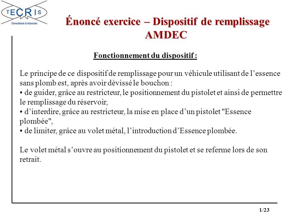 22/23 Correction exercice – Dispositif de remplissage Correction exercice – Dispositif de remplissageAMDEC
