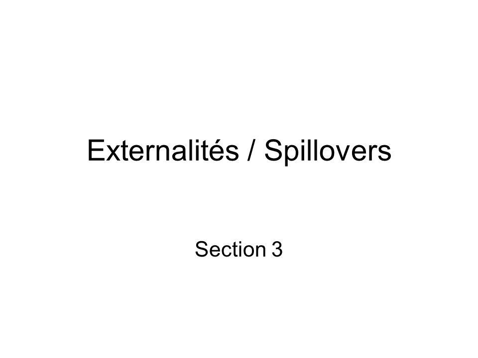 Externalités / Spillovers Section 3