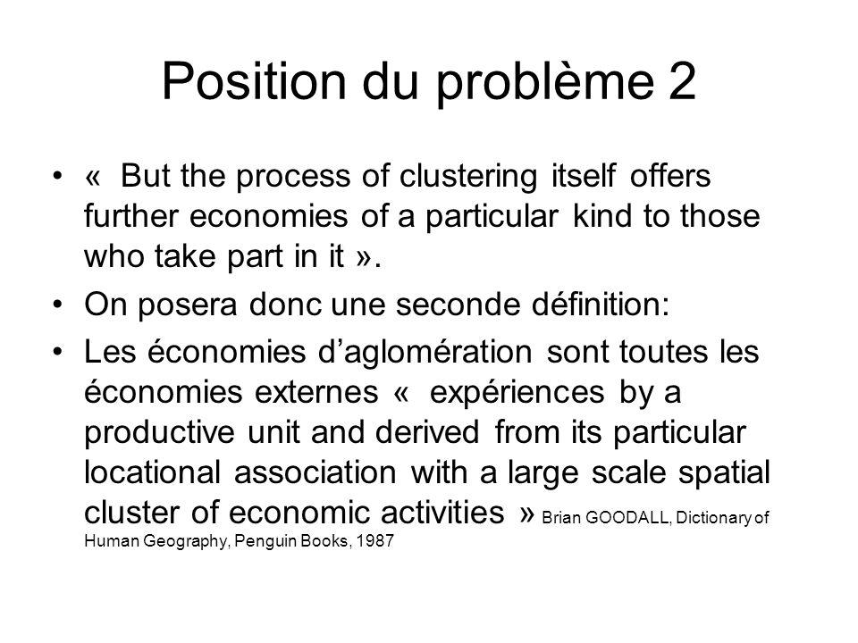 Typologie Depuis la contribution de HOOVER ( 1937), on distingue 2 sortes d économies dagglomération: Type 1.