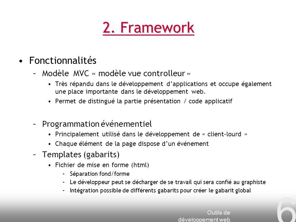 Outils de développement web 7 2.