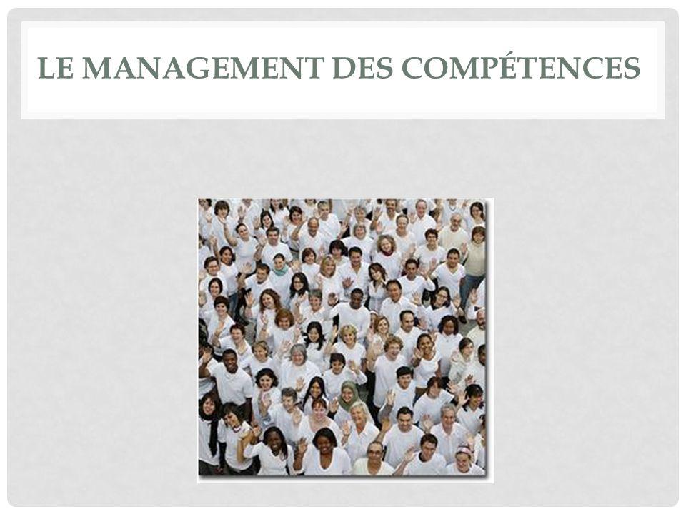 POURQUOI UN MANAGEMENT DES COMPÉTENCES .