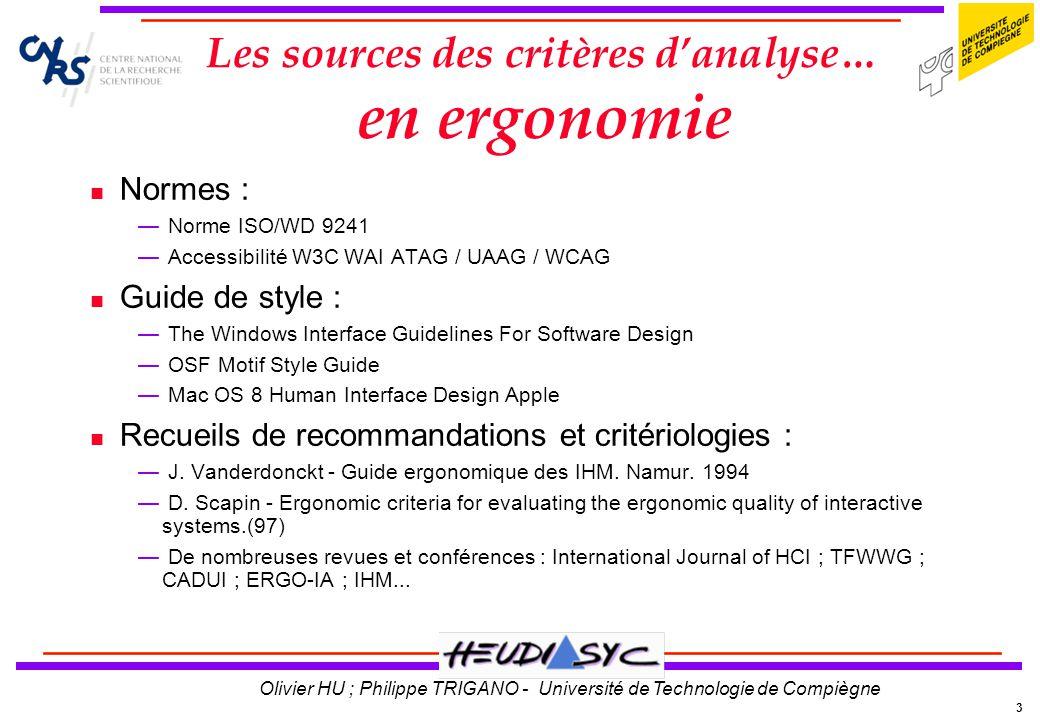 24 Olivier HU ; Philippe TRIGANO - Université de Technologie de Compiègne Validations