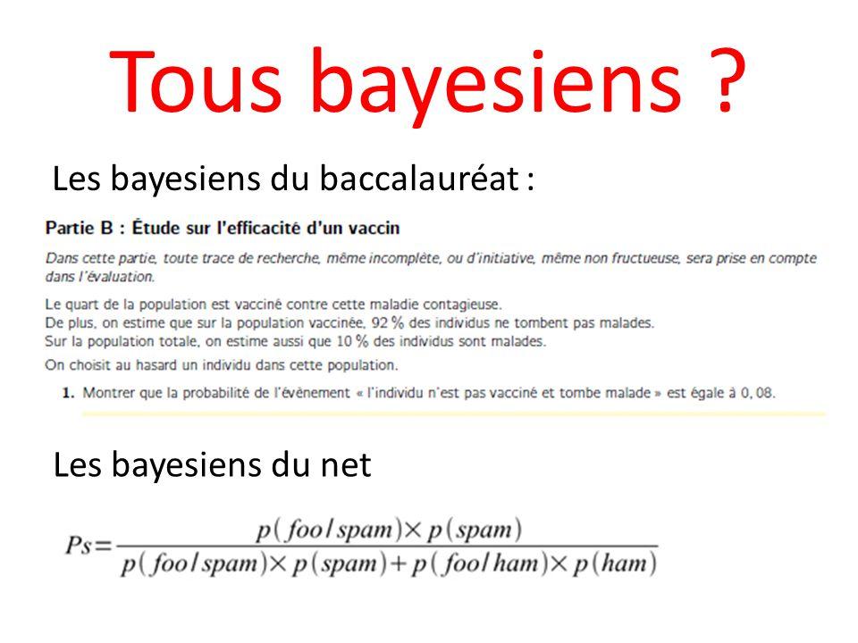 Tous bayesiens ? Les bayesiens du baccalauréat : Les bayesiens du net