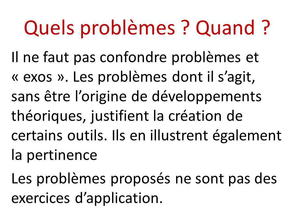 Quelques classes de problèmes (1) Problèmes de nombres et de calculs - Ecriture des nombres - Les nombres entiers : multiples et diviseurs.