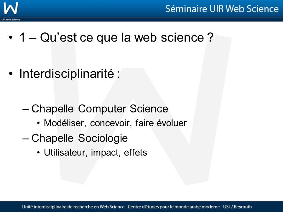1 – Quest ce que la web science .