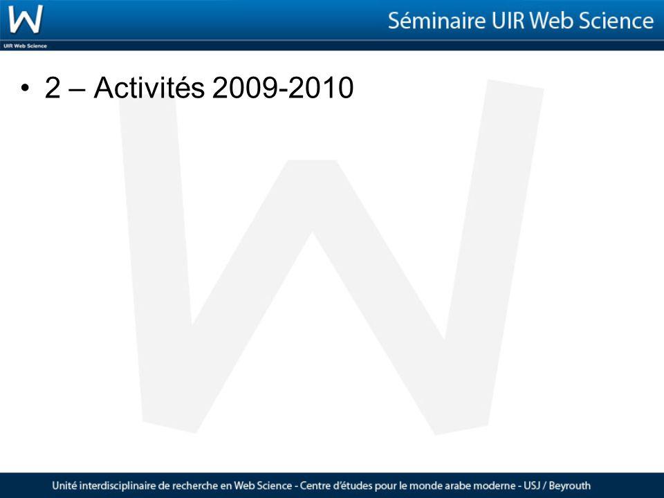 2 – Activités 2009-2010