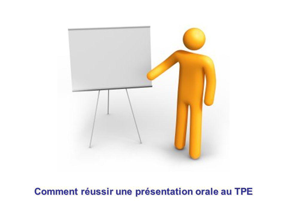 Comment réussir une présentation orale au TPE