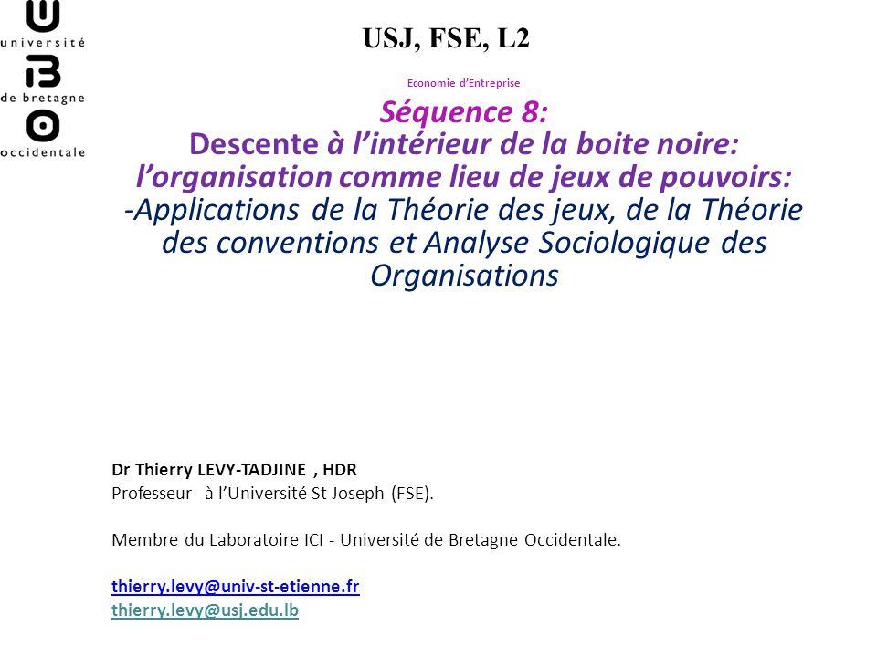 The Cooperative Game-Theory of the Firm (AOKI, 1984) -Prolongement de la Théorie behavioriste et de la Théorie de lagence -Formalisations de la Théorie des jeux.