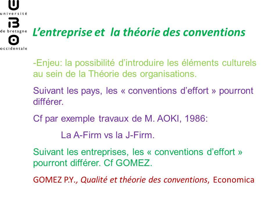 Conventions deffort et conventions de qualification: lentreprise en lutte sur deux fronts (GOMEZ, 1994)