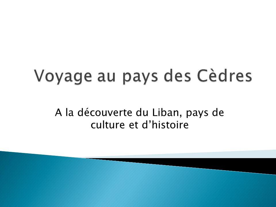 A la découverte du Liban, pays de culture et dhistoire