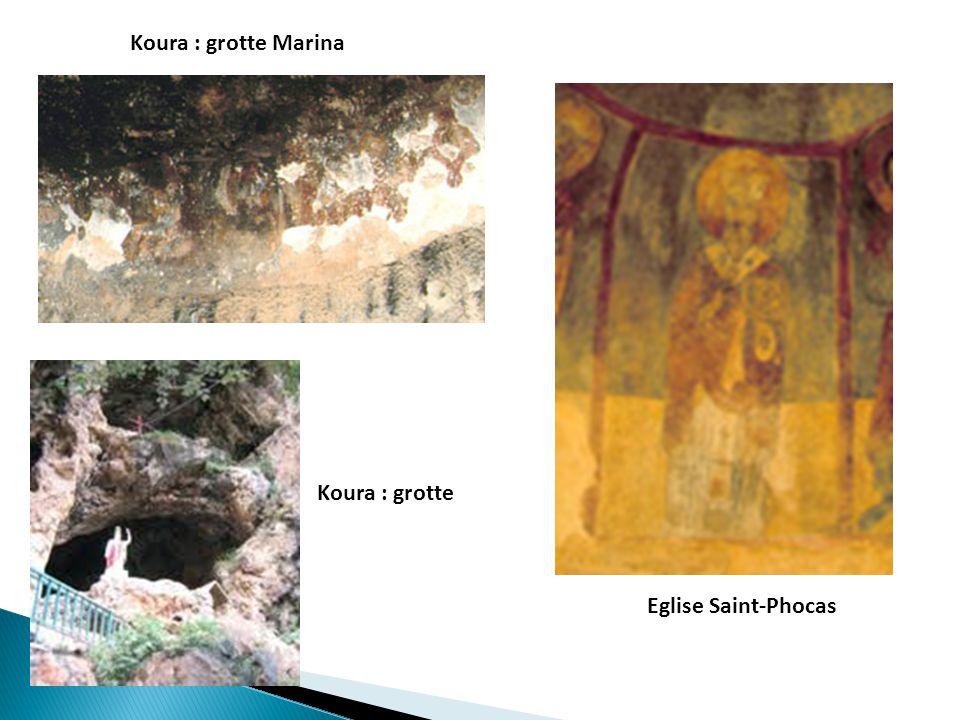 Koura : grotte Marina Eglise Saint-Phocas Koura : grotte