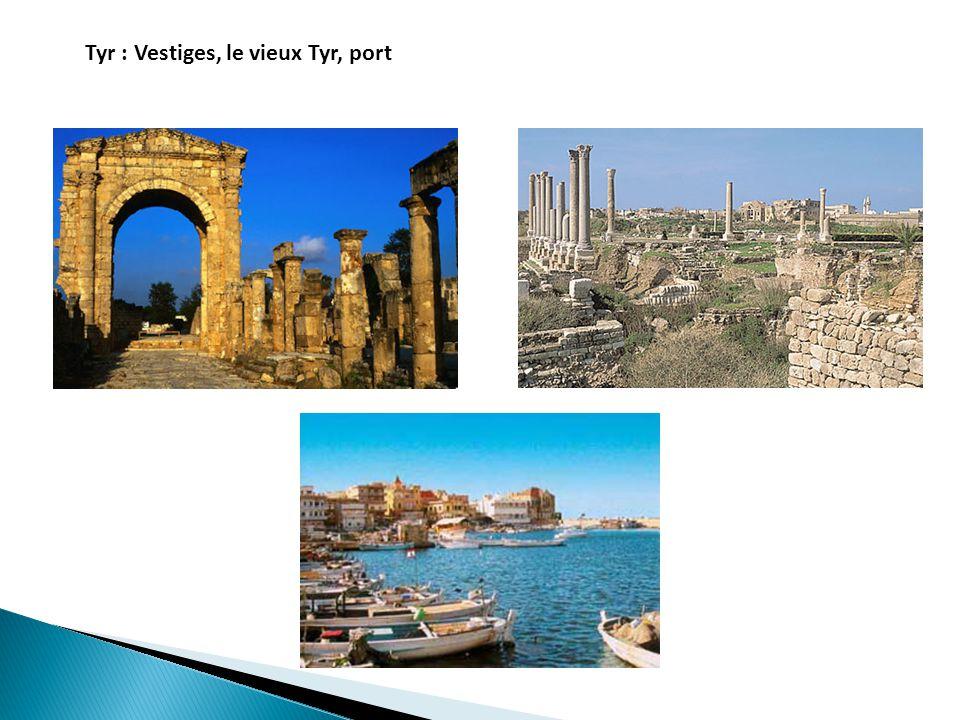 Tyr : Vestiges, le vieux Tyr, port