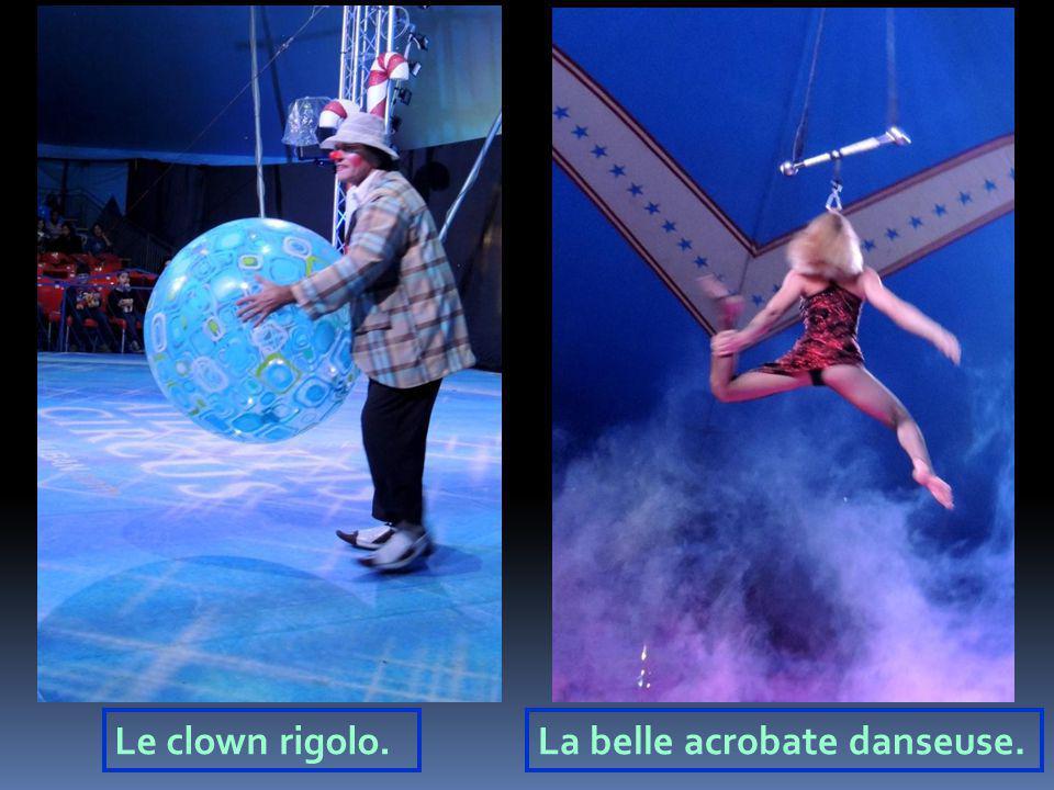 Le clown rigolo.La belle acrobate danseuse.