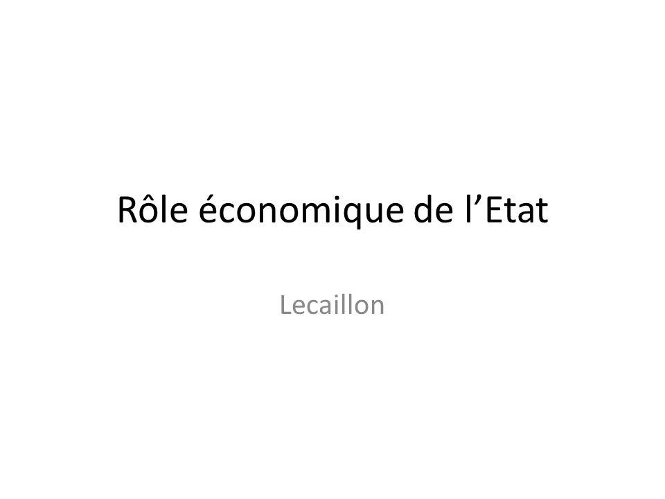 Rôle économique de lEtat Lecaillon