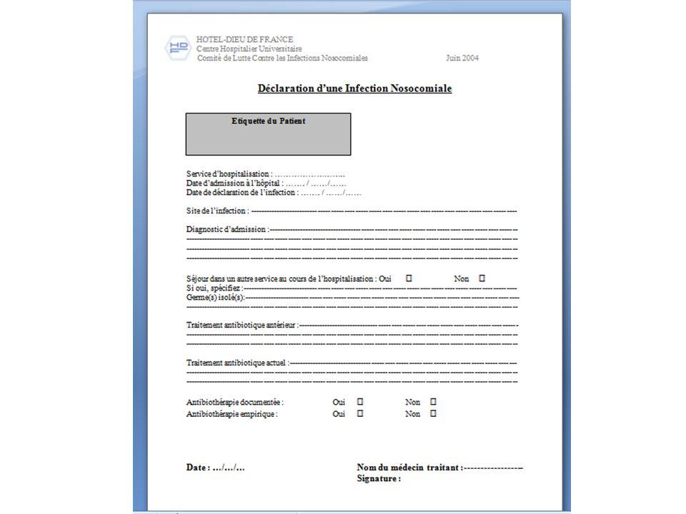RÉSULTATS ET DISCUSSION Incidence des Infections nosocomiales Incidence cumulée = 2004-2005 2.74% 2.74 IN pour 100 admissions 2009-2010 2.6% 2.6 IN pour 100 admissions Stabilisation du taux des IN à un chiffre relativement bas