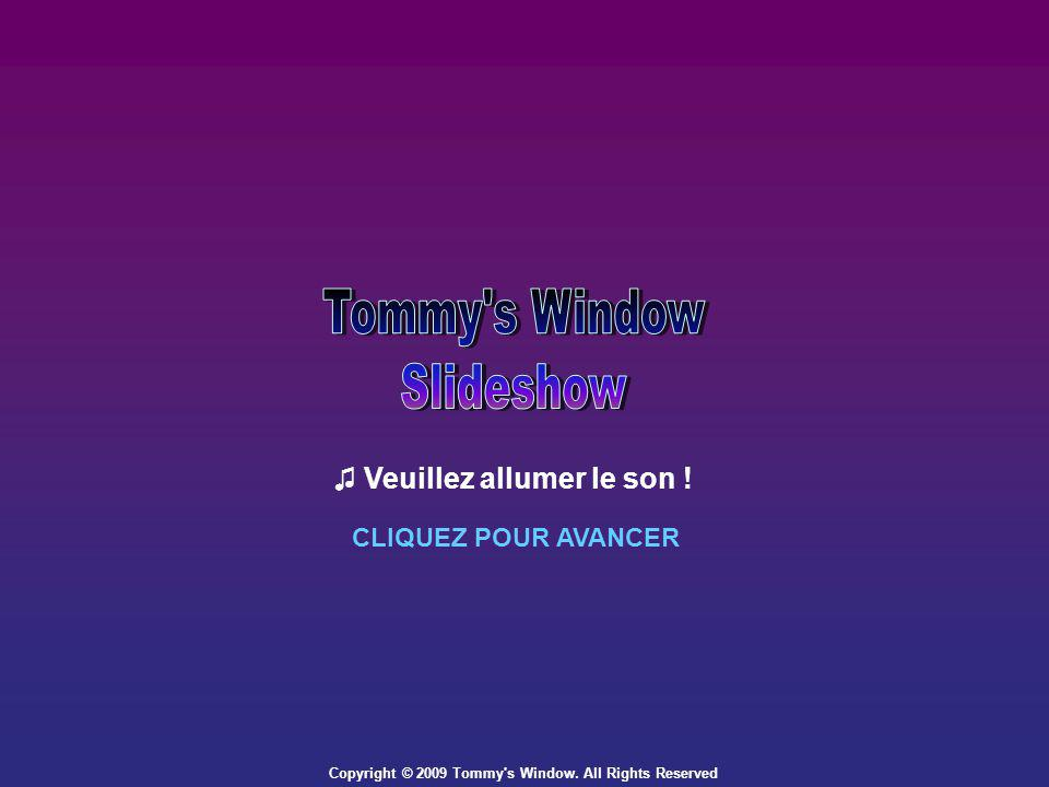 Copyright © 2009 Tommy s Window. All Rights Reserved Veuillez allumer le son ! CLIQUEZ POUR AVANCER