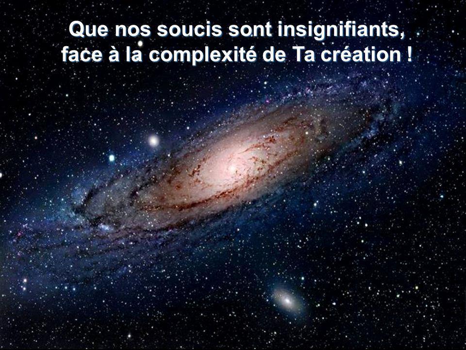Et nous sommes si petits, comparés à limmensité de Ton univers !