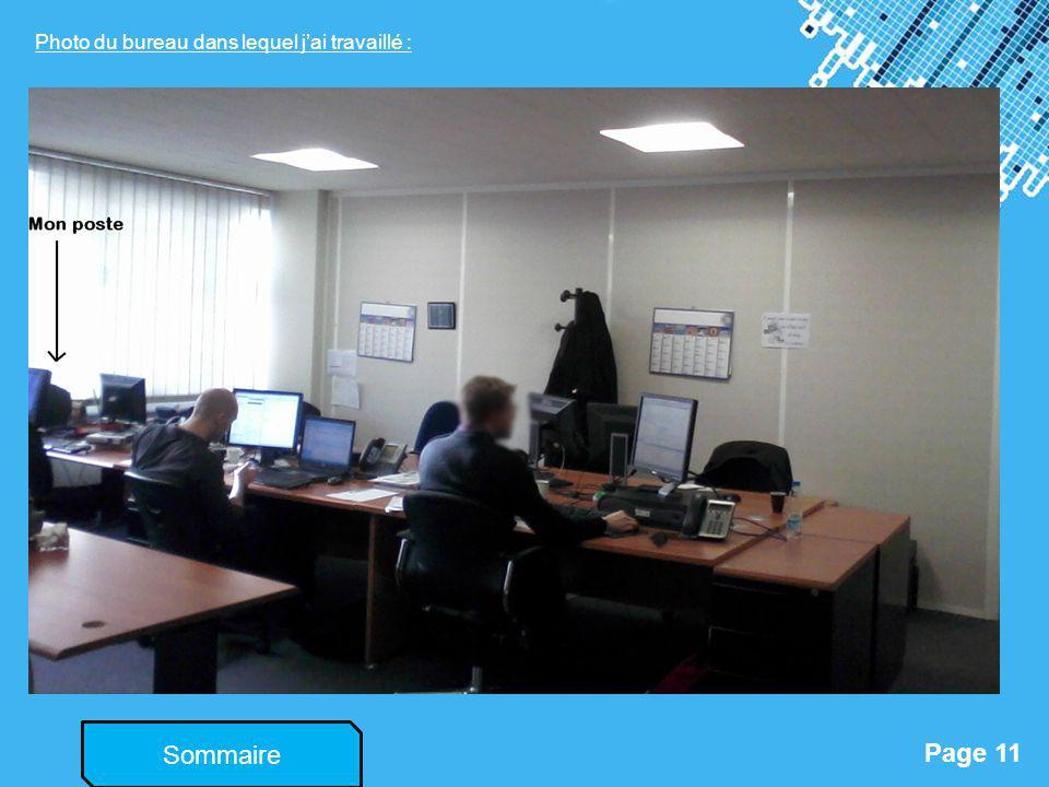 Powerpoint Templates Page 11 Sommaire Photo du bureau dans lequel jai travaillé :