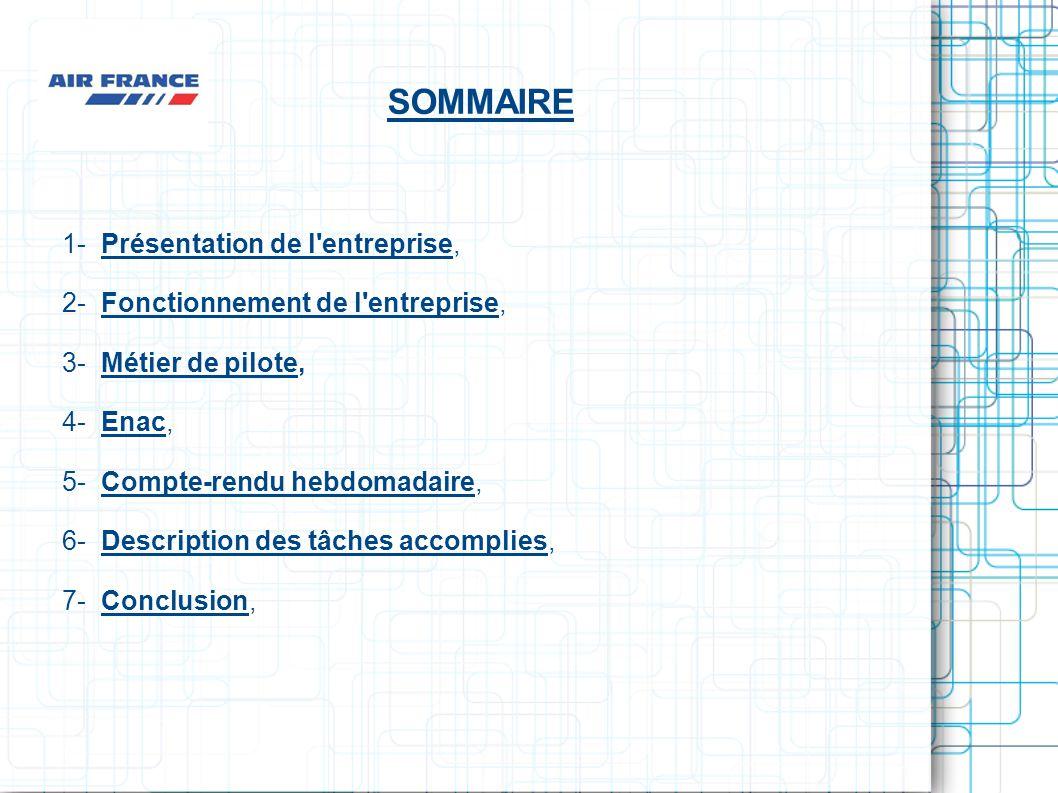 SOMMAIRE 1- Présentation de l'entreprise,Présentation de l'entreprise 2- Fonctionnement de l'entreprise,Fonctionnement de l'entreprise 3- Métier de pi