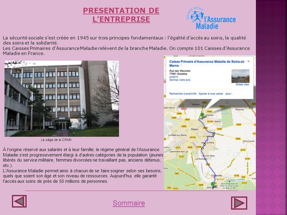 -Contrôle -Établissements -Contentieux LE FONCTIONNEMENT DE LENTREPRISE Sommaire -Directeur -Dir.
