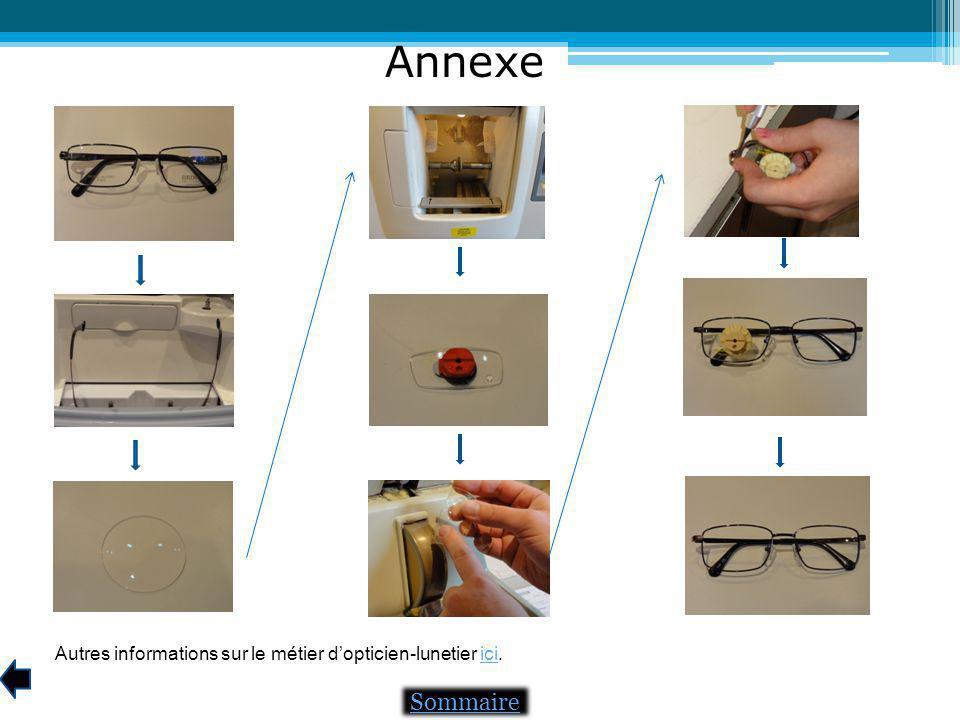 Annexe Sommaire Autres informations sur le métier dopticien-lunetier ici.