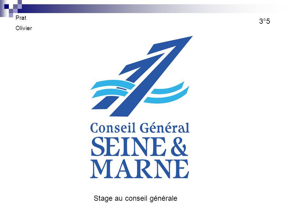 Prat Olivier 3°5 Stage au conseil générale