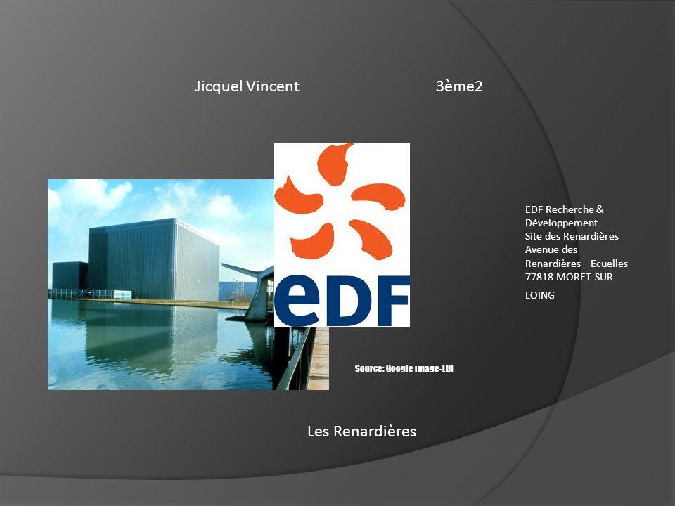 Jicquel Vincent3ème2 Les Renardières EDF Recherche & Développement Site des Renardières Avenue des Renardières – Ecuelles 77818 MORET-SUR- LOING Sourc