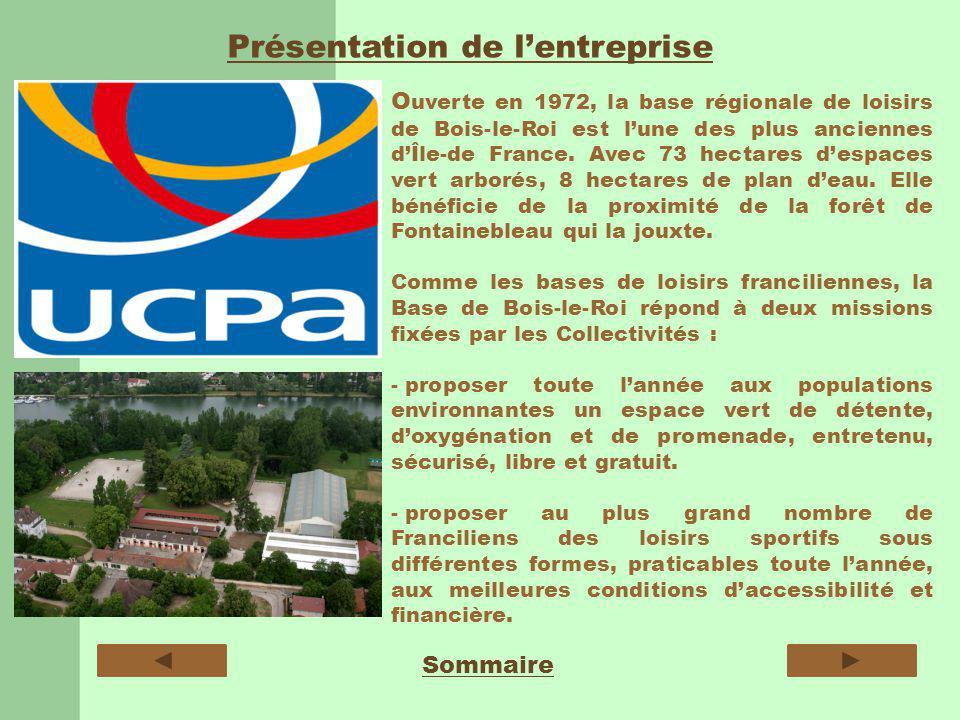 Présentation de lentreprise Sommaire O uverte en 1972, la base régionale de loisirs de Bois-le-Roi est lune des plus anciennes dÎle-de France.