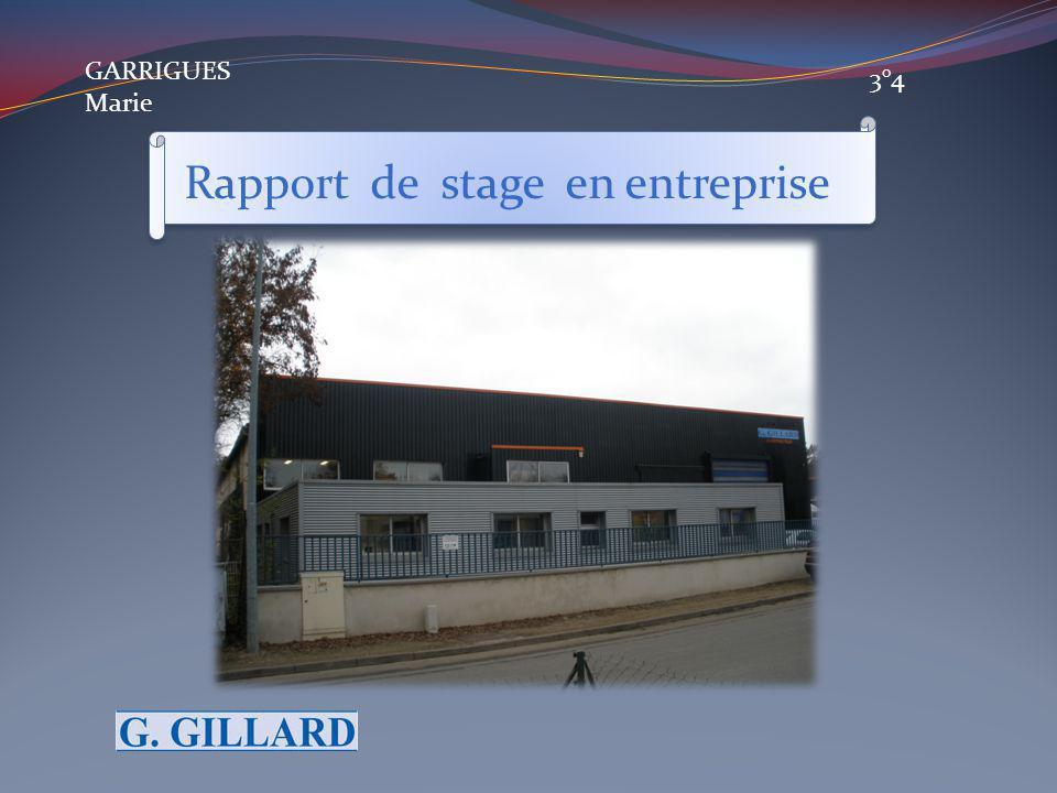 GARRIGUES Marie 3°4 Rapport de stage en entreprise