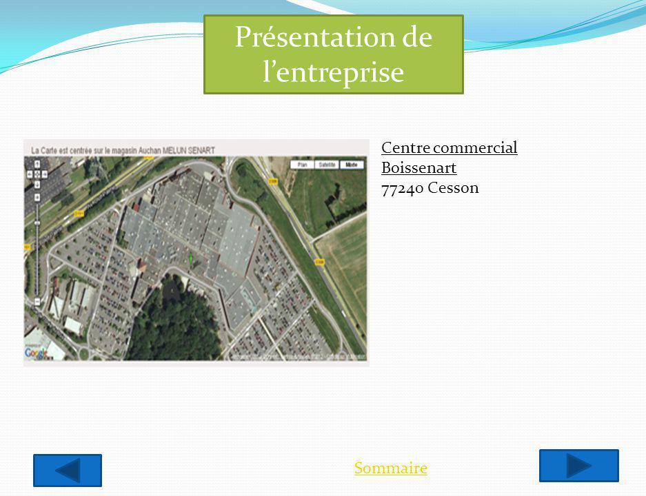 Présentation de lentreprise Sommaire Centre commercial Boissenart 77240 Cesson
