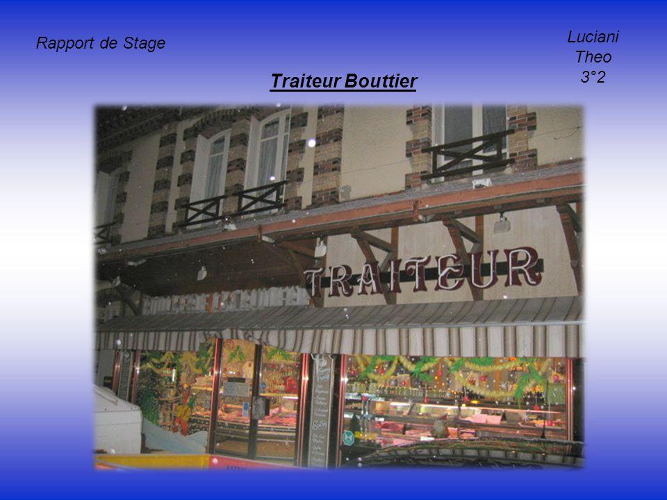 Rapport de Stage Luciani Theo 3°2 Traiteur Bouttier